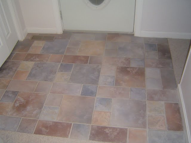 Square Ceramic Tile Entrance Way