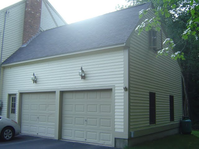 A garage addition, with a finished upper level is one of many popular home remodeling ideas.