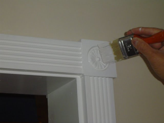 Touch Up Painting of Interior Wood Trim