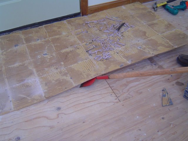 Removing Ceramic Tile Flooring On A Backerboard Base