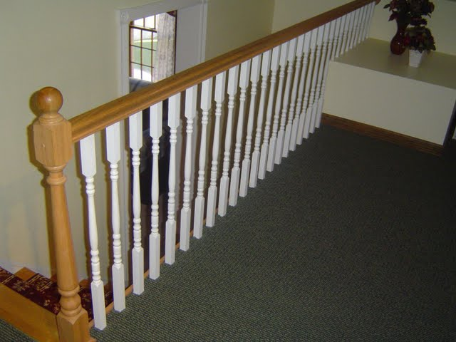 How to evenly space balusters along a railing.