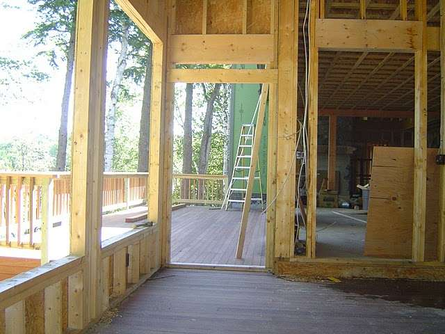 A subfloor can become damaged if exposed to the elements for too long during construction.
